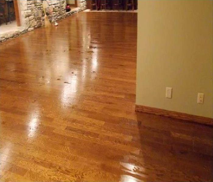 water causing damage to wood flooring