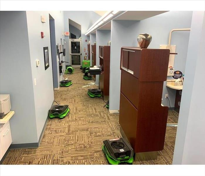 Dental office with SERVPRO drying equipment