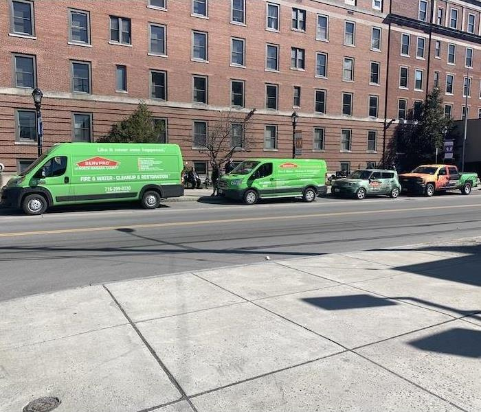 SERVPRO fleet ready for action.