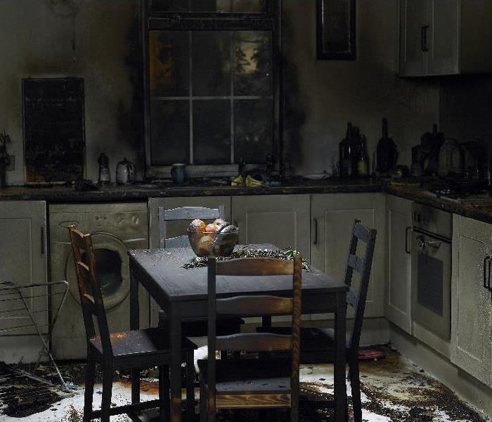 kitchen burnt in fire